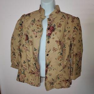 Flora Vintage Feel Denim Jacket NWOT